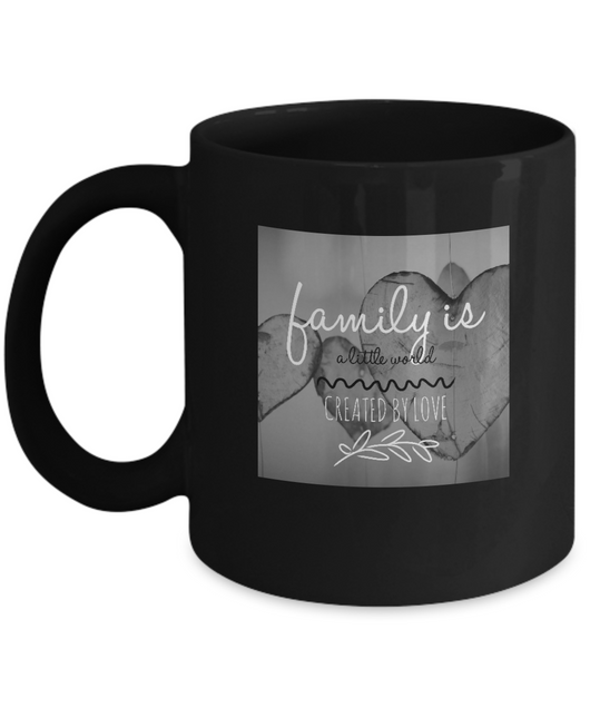 Family love design - Black & White Coffee Mug - Uncle Seal
