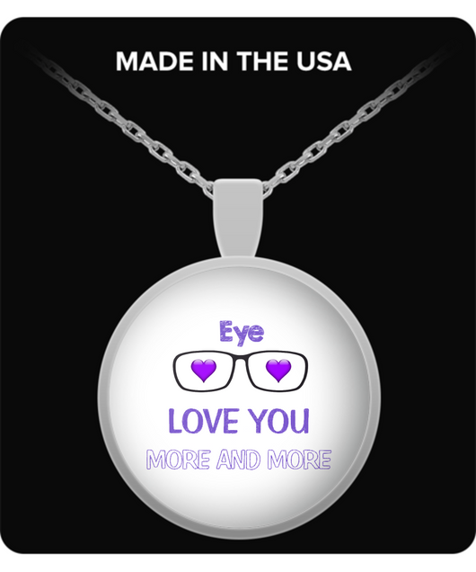 Eye Love you more and more Necklace - Uncle Seal