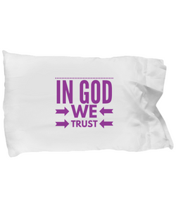 In God we Trust - Pillow Case Pink - Uncle Seal