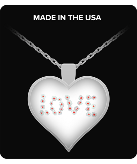 Flower Heart Necklace - Uncle Seal