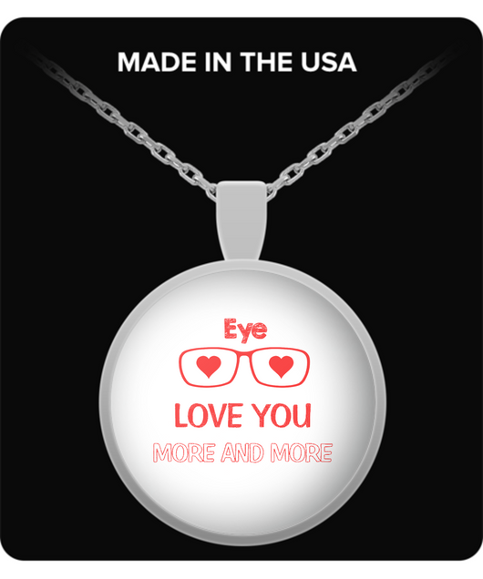 Eye love you more and more Necklace Red - Uncle Seal