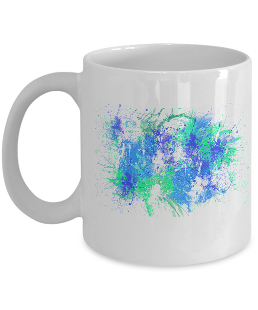 Colorful Coffee Mugs - Mug Set - Kitchen Decorative - 11oz - Abstract - Uncle Seal