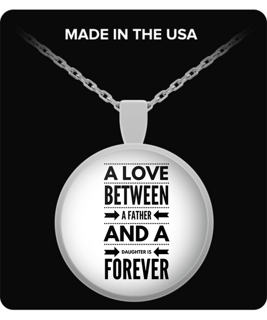 Father and Daughter Love - Round Necklace Design - Uncle Seal