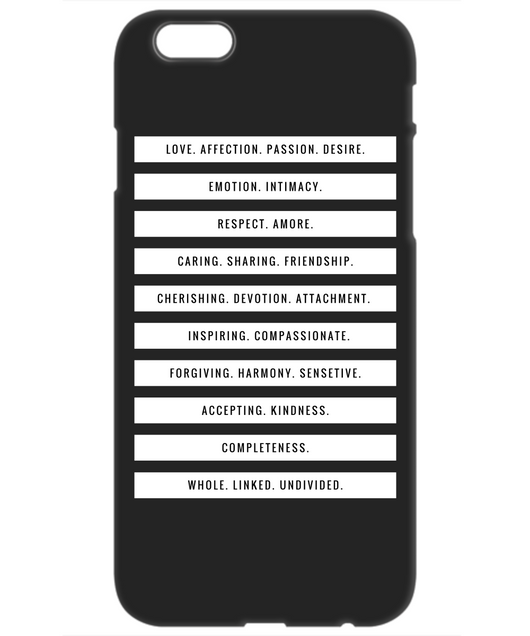 Love & Passion - Iphone Case Black - Uncle Seal