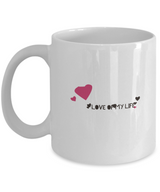 Love of my life Coffee Mug - White creative design - Uncle Seal