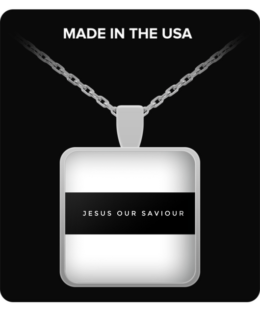 Jesus is our saviour - Square Necklace - Uncle Seal