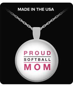 Proud Softball Mom - Necklace - Uncle Seal