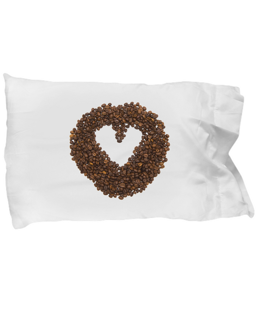 Coffee Grain Heart Pillow Case - Uncle Seal
