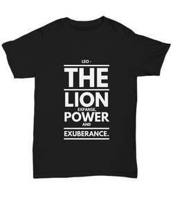 Zodiac Signs design text  T shirt - Leo - Uncle Seal