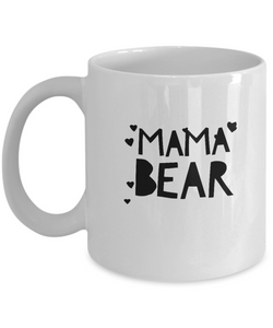 Mama Bear - White Coffee Mug - Hearts - For Mom - Great Gift - Uncle Seal