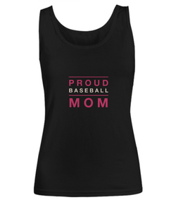 Proud Baseball Mom - Black Woman Tank - Uncle Seal