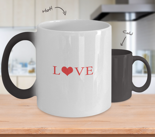 Love Design - Coffee Mug Color Changing - Uncle Seal