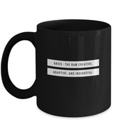 Zodiac Signs with slogan Coffee Mug - Aries Black - Uncle Seal