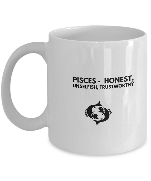 Zodiac Signs Mug - Pisces Black - Uncle Seal