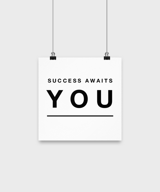 Success Awaits you - poster - Uncle Seal