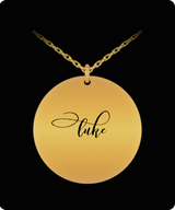 Luke Pendant - Name Necklace - Personalized Charm Gift - Gold plated Plated/Stainless Steel - Laser Engraved - Lovely Present - Uncle Seal