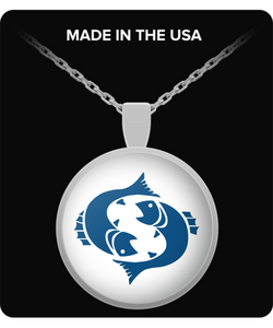 Pisces Zodiac Signs Necklace - Blue - Uncle Seal