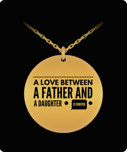 Father Daughter Necklace - Love Jewelry Pendant - Gold plated Plated/Stainless Steel Silver Chain Charm - Great Gift From Dad - Uncle Seal