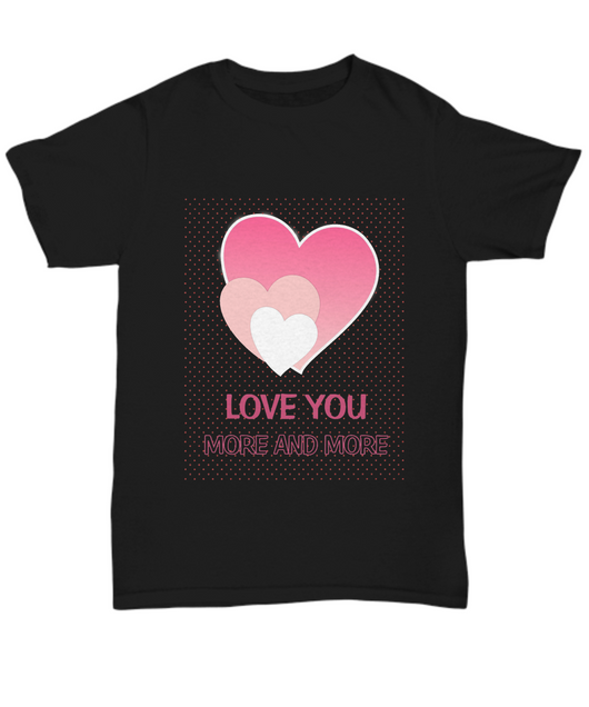 Love you more and more - Black Tshirt - Uncle Seal