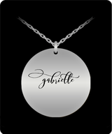 Gabrielle Name Necklace - Personalized Charm Pendant - Gold plated Plated/Stainless Steel - Lovely Gift - Uncle Seal