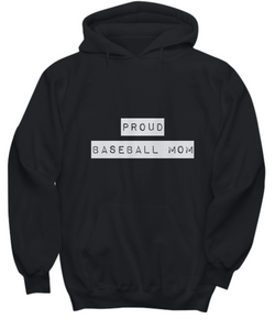 Proud Baseball Mom - Black Hoodie - Uncle Seal