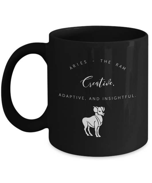 Zodiac Signs with slogan Coffee Mug black - Aries - Uncle Seal