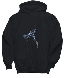 Abstract Smoke - Black Hoodie - Uncle Seal