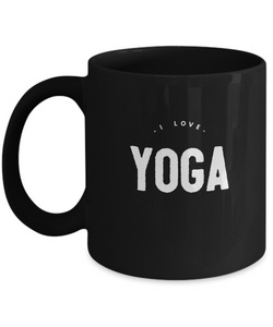 Black Coffee Mug design  - Life is Yoga - Uncle Seal