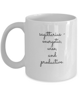 Zodiac Signs Coffee Black Mug Sagittarius - Uncle Seal