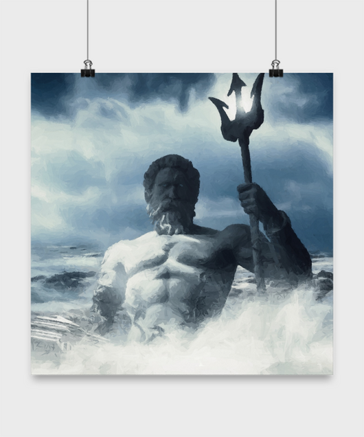 Greek gods poster -  Oil Paint Style design - Uncle Seal