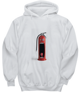 Funny Surprised fire extinguisher - White Hoodie - Uncle Seal