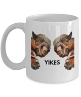 "Funny Horses ""YIKES"" - Coffee Mug - Uncle Seal"
