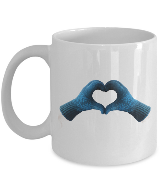 Love Gloves Design - Coffee Mug Blue - Uncle Seal
