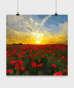 Sunset Oil Painting style Print Design Poster - Uncle Seal