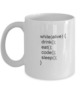Funny Coders White Coffee Mug - Perfect gift for Office - Uncle Seal