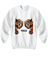 "Funny Horses ""YIKES"" - White Sweatshirt - Uncle Seal"