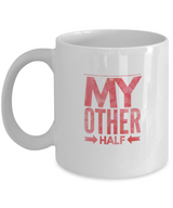 My Other Half - Coffee Mug - White/red - Uncle Seal