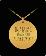 Nurse Charm Necklace - Funny - Gold plated Plated/Stainless Steel Silver Laser Engraved Pendant - Great Gift - Uncle Seal