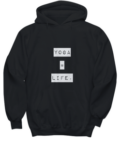Life is Yoga - Black Hoodie - Uncle Seal