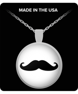Mustache Charm Necklace - Square/Round Pendant - Uncle Seal