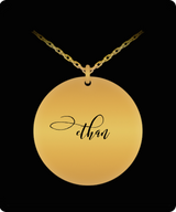 Ethan Pendant - Name Necklace - Personalized Charm Gift - Gold plated Plated/Stainless Steel - Laser Engraved - Lovely Present - Uncle Seal
