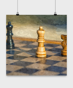 Chess Poster - Oil Paint Style design - Uncle Seal