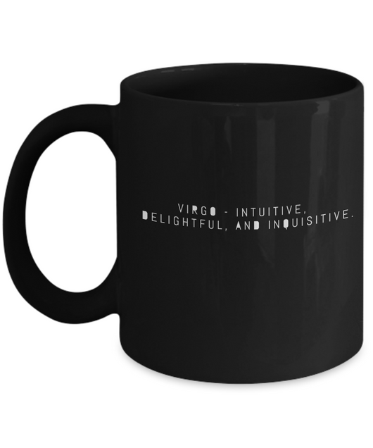 Zodiac Signs Coffee Black Mug Gemini - Virgo Design - Uncle Seal