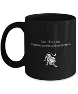 Zodiac Signs Coffee  Black design Mug - Leo - Uncle Seal