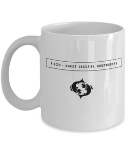 Pisces White design Zodiac Signs -  Coffee Mug - Uncle Seal