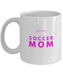 Proud Soccer Mom - White pink Coffee Mug - Uncle Seal
