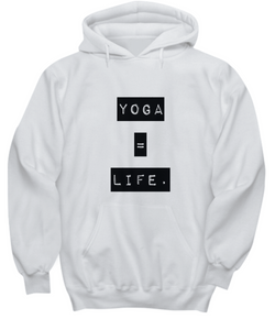 Life is Yoga - White Hoodie - Uncle Seal
