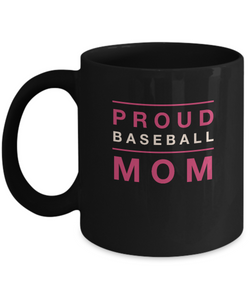 Black Coffee Mug - Proud Baseball Mom - Uncle Seal