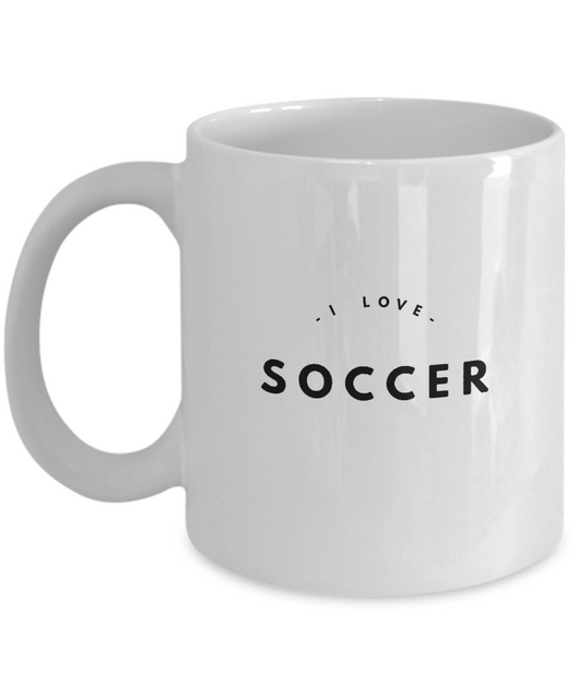 I Love Soccer - White Coffee Mug - Uncle Seal