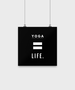 Life is Yoga - Black poster - Uncle Seal
